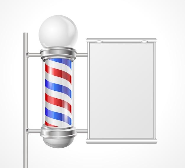 Poteau de boutique baber avec espace pour la publicité