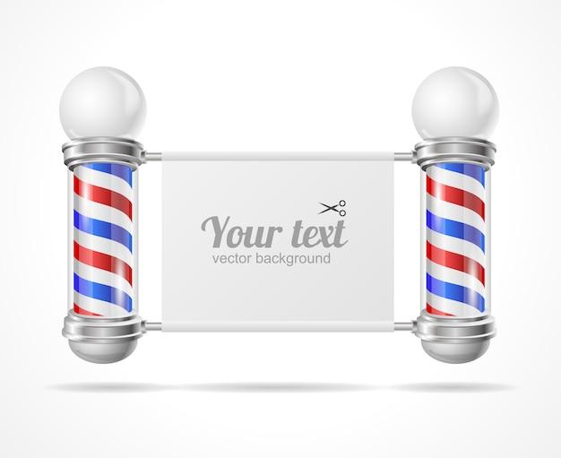 Poteau de boutique baber, placez votre texte.