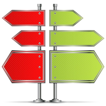 Poteau avec des panneaux de signalisation