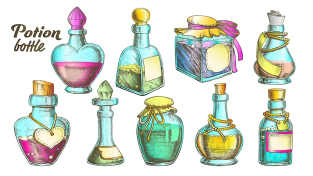 Potion bottles collection set