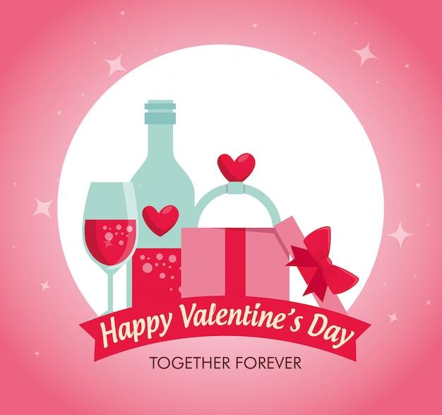 Potion love avec bague de fiançailles pour fêter la saint valentin
