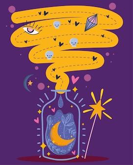 Potion de lune en bouteille