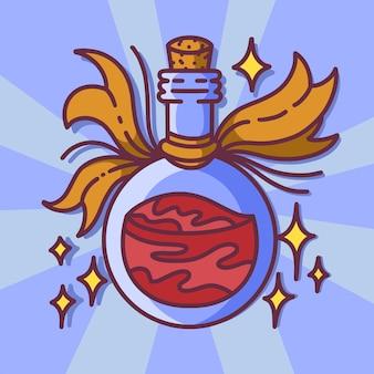 Potion magique, sorcellerie, style cartoon