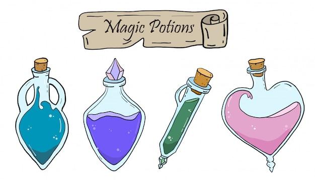 Potions magiques de vecteur