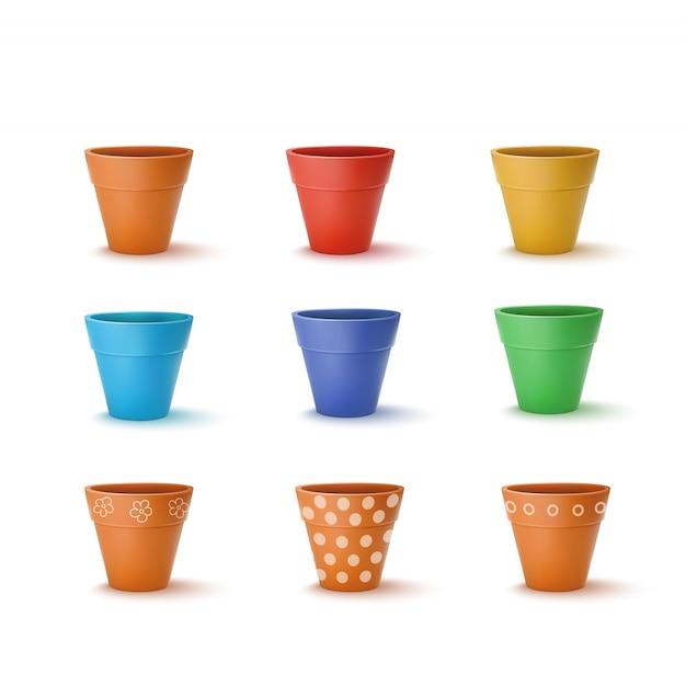Pots de fleurs en céramique