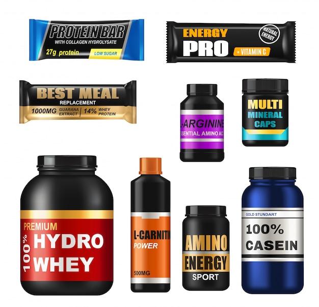 Pots réalistes de nutrition sportive