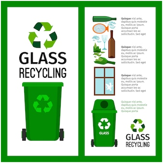 Poubelle conteneur vert info avec verre