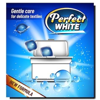 Poudre de lavage blanche parfaite