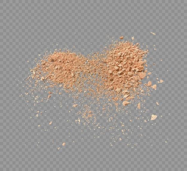 Poudre de maquillage isolé illustration vectorielle de poudre cosmétique