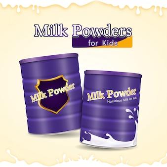 Poudres de lait réalistes pour les enfants