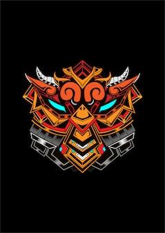 Poulet gundam evil cyborg concept art design