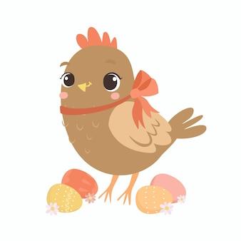 Poulet de pâques mignon