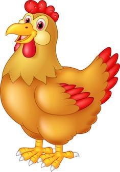 Poulet poule mignonne posant