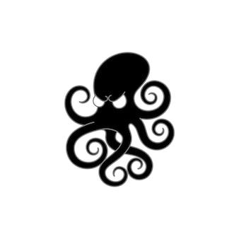Poulpe icône illustration isolé vecteur signe symbole