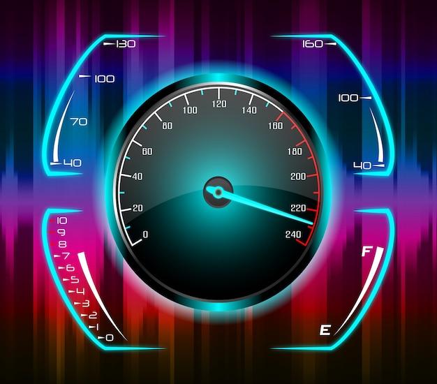 Pour l'art de concept de compteur de vitesse de voiture de jeu de course