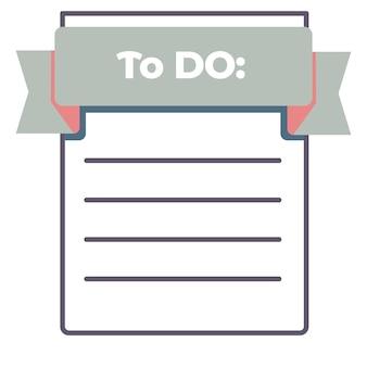 Pour faire la liste feuille de papier vide avec vecteur de lignes
