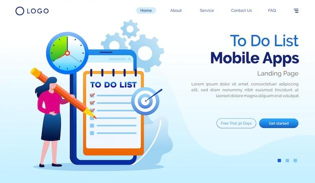 Pour faire la liste des modèles de site web de page de destination des applications mobiles