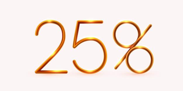 Pourcentage de réduction sur la composition créative méga vente ou symbole de pourcentage de bonus