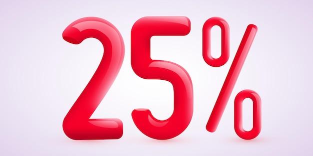 Pourcentage de réduction sur la composition créative d symbole de vente avec bannière et affiche de vente de confettis décoratifs