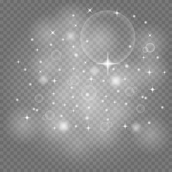 Poussière de l'espace, sur un transparent.