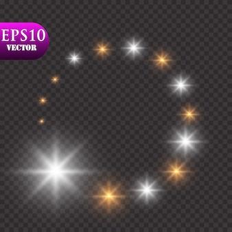 Poussière d'étoiles brillante, effet de lumière