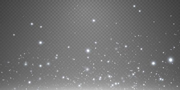 Poussière magique scintillante sur fond blanc et noir texturé