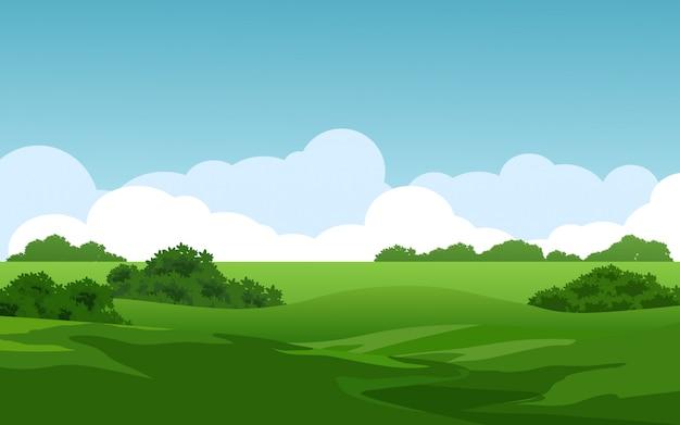 Prairie en journée ensoleillée