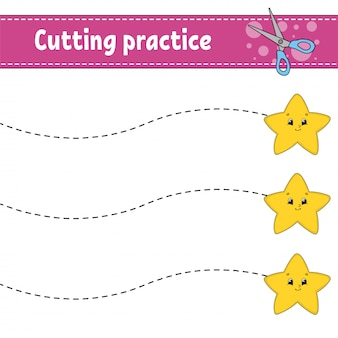 Pratique de coupe pour les enfants.