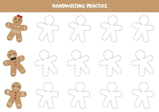 Pratique de l'écriture avec des hommes mignons au gingembre.