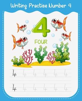 Pratique d'écriture mathématique numéro quatre