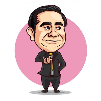 Prayuth chanocha caricature cartoon.