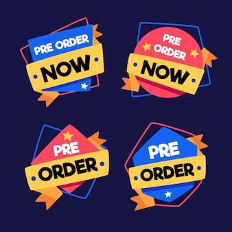 Pré-commander La Collection De Badges Vecteur gratuit