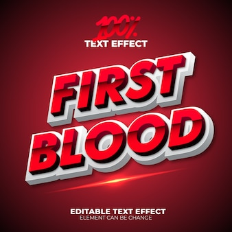 Premier effet de texte blood