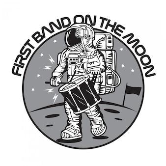 Premier groupe sur la lune