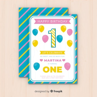 Premier modèle de carte d'anniversaire