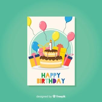 Premier modèle de carte colorée anniversaire