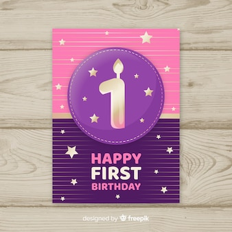 Premier modèle de carte de numéro doré anniversaire
