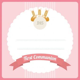 Première carte de communion