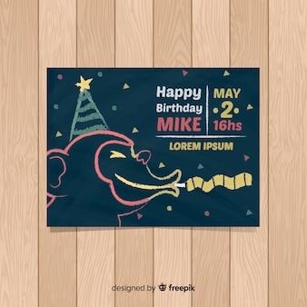 Première carte de fête d'anniversaire