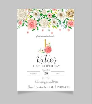Première invitation florale