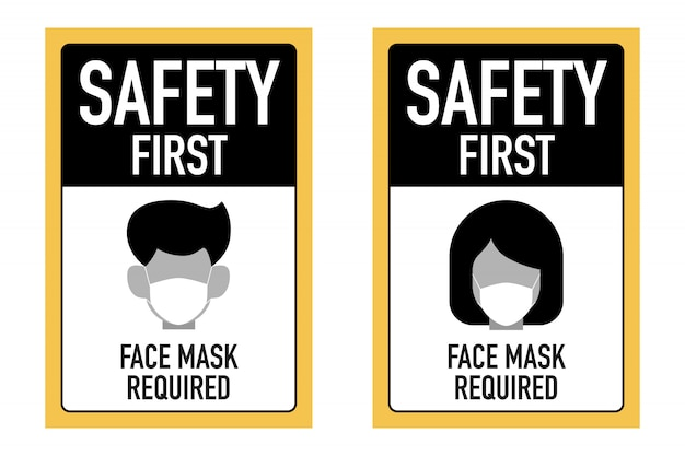 Les premiers masques de sécurité nécessitaient un concept de conception de signalisation.