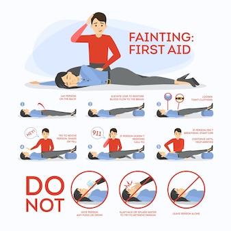 Premiers secours évanouissement. que faire en situation d'urgence