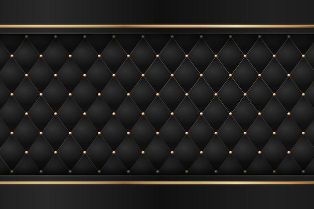 Premium noir avec des éléments géométriques de luxe en or foncé