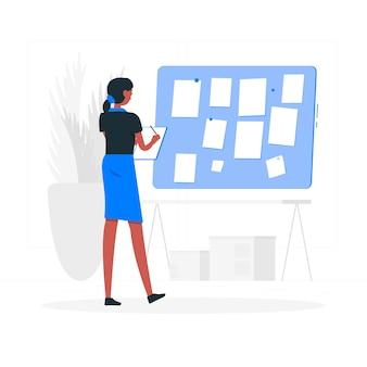 Prendre des notes concept illustration