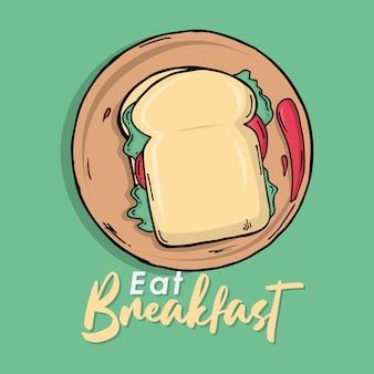 Prendre le petit déjeuner