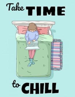 Prenez le temps de refroidir l'affiche
