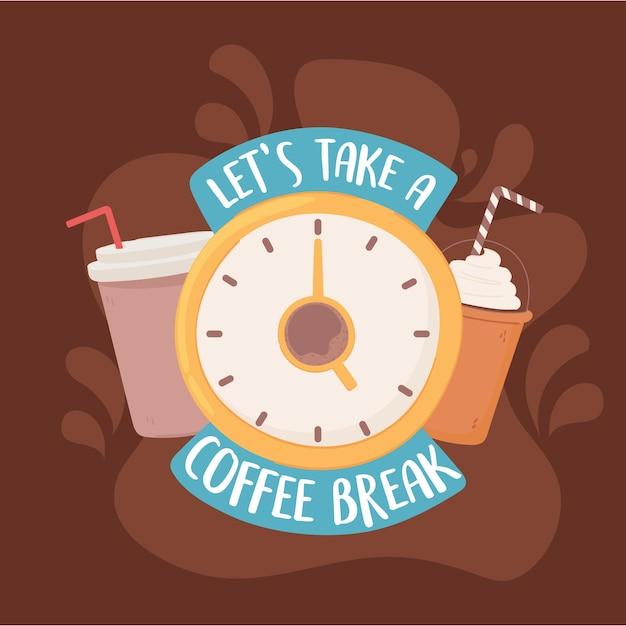 Prenons une bannière de pause-café