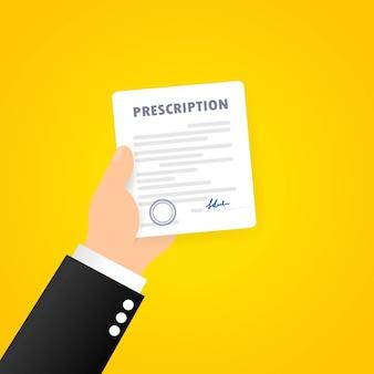 Prescription de médecin médicament analgésique