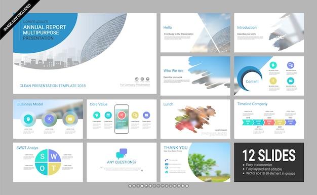 Présentation 12 modèle de diapositive