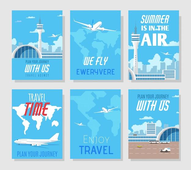 Présentation de l'agence de voyage. médias sociaux ou monde imprimé